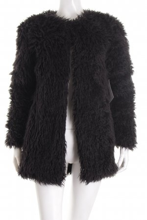 Subdued Giacca in eco pelliccia nero soffice