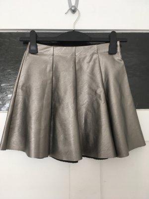 Subdued Plaid Skirt multicolored imitation leather