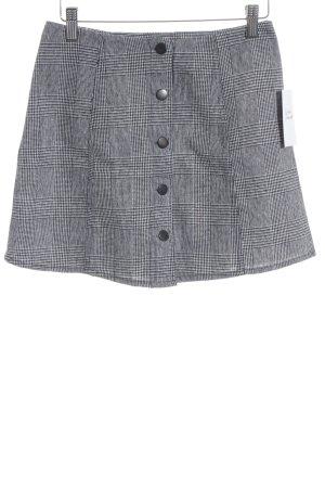Subdued Minirock schwarz-weiß Glencheckmuster Brit-Look