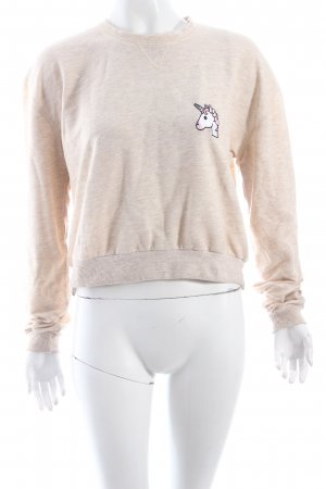 Subdued Pullover creme-beige meliert College-Look
