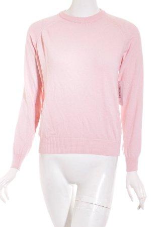 Subdued Maglione girocollo rosa chiaro stile classico