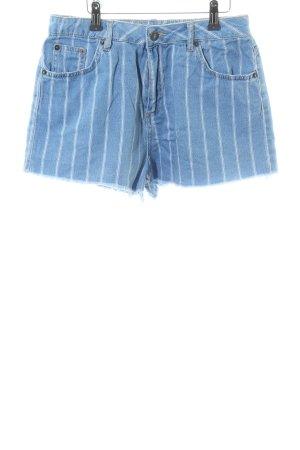 Subdued Shorts blau-wollweiß Streifenmuster Casual-Look