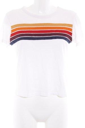 Subdued T-Shirt Streifenmuster sportlicher Stil