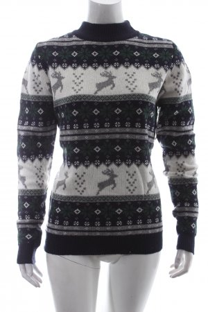 Subdued Weihnachtspullover mehrfarbig Casual-Look