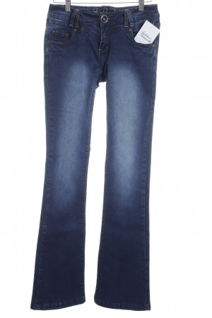 Sublevel Boot Cut Jeans dunkelblau Washed-Optik