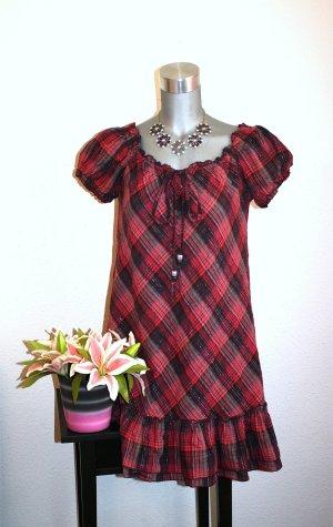 Sublevel Kleid Gr. 42/44 Kariert Romantic Design