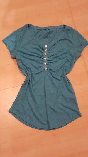 Sublevel - Melliertes Shirt mit Knopfleiste