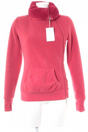 Sublevel Sweatjacke ziegelrot Casual-Look