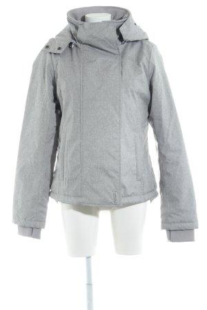 Sublevel Winterjack grijs gestippeld simpele stijl
