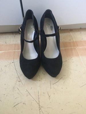 Platform High-Heeled Sandal black-cream