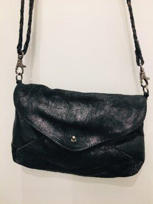 Sucht Ausgehpartnerin: Schwarze Glitzer Lederhandtasche ♀️