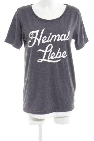 Suck My Shirt T-Shirt hellgrau Schriftzug gedruckt Casual-Look