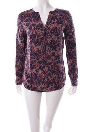 Sud express Langarm-Bluse abstraktes Muster schlichter Stil