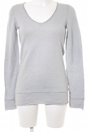 Sud express V-Ausschnitt-Pullover blassblau Casual-Look