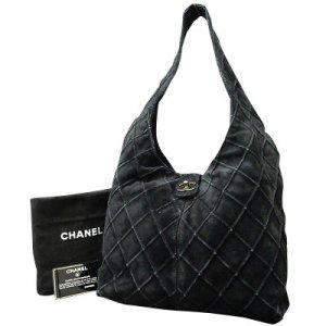 Chanel Sac à main noir daim