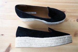 & other stories Espadrille Sandals black-cream leather