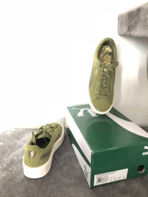Suede Platform Satin Damen Sneaker