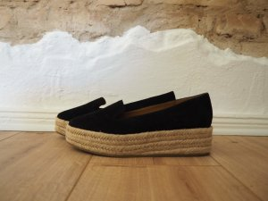 & other stories Espadrille Sandals black-oatmeal leather