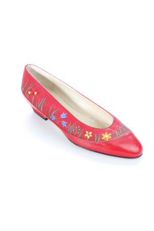 Südtiroler Schuhe Bailarinas estampado floral estilo country