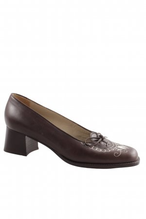 Südtiroler Schuhe Lace-up Pumps brown vintage look