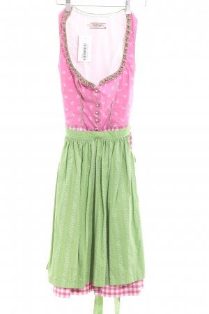 Südtiroler Tracht Dirndl rose-vert motif à carreaux style classique
