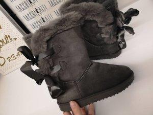 Botines gris oscuro-gris antracita