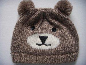 Süße Bärenmütze / Mütze mit Ohren / Beanie mit Bärenohren und Pailletten