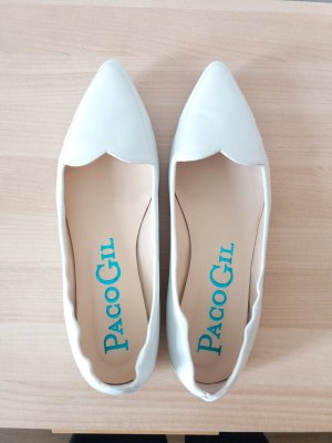Paco Gil Ballerinas with Toecap natural white