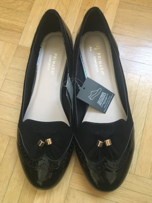 Primark Patent Leather Ballerinas black