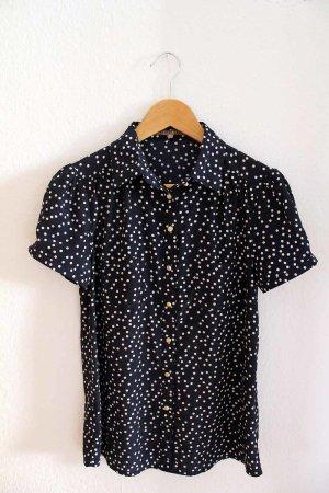 Süße blau-weiße Bluse von Mint&Berry | Polka-Dots | XS/S