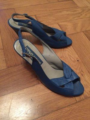 Süße blaue 60ies Peeptoes in Größe 35,5