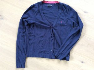 Süße blaue Strickjacke mit pinken Details von Marc'O Polo