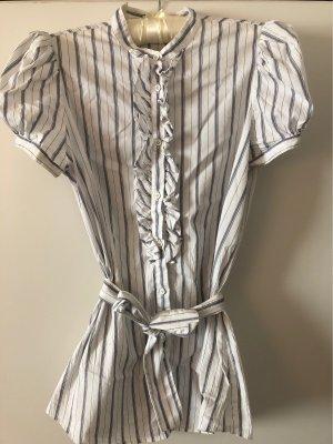 Aglini Short Sleeved Blouse white-steel blue