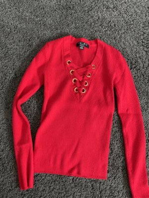 Amisu Long Sleeve Blouse brick red