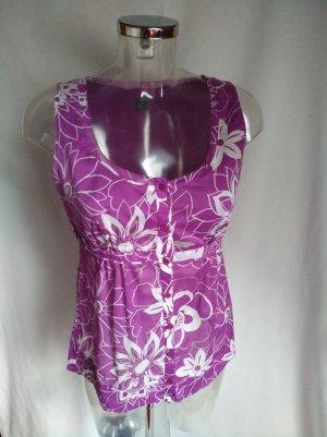 süße Bluse ärmellos mit Blumen Design Gr 34!