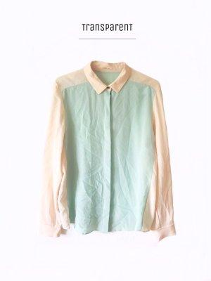 Süße Bluse aus Seide Pastellfarben Puder Mint seventies style N3-4 / Marc Cain