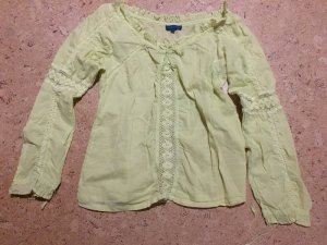 Blue Motion Tunic Blouse lime yellow