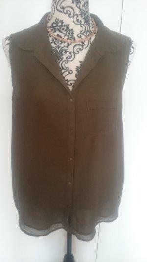süsse Bluse Blusentop khaki NEU mit Etikett Größe 42