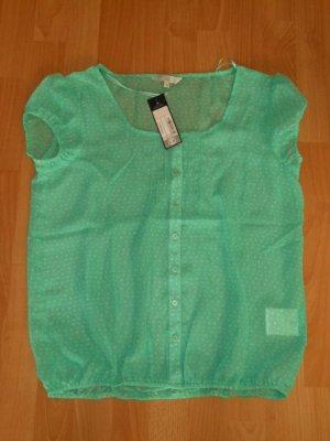 süße Bluse, Gr. 42, Clockhouse, grün/weiß, NEU!!