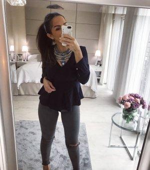 Zara Camicetta a maniche lunghe blu-blu scuro