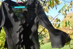 XX BY MEXX Ruche blouse zwart