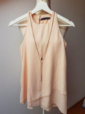 Süße Bluse mit goldener Kette; Gr, 34