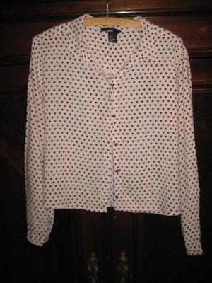 Süße Bluse mit Herzchen von H&M Gr. 38
