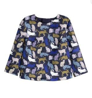 Süße Bluse mit Katzen Print ♡