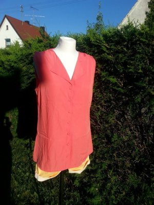 Süße Bluse mit Knopfleiste, Gr.M 38, Vero Moda, coral Büro