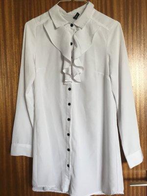 H&M Ruche blouse wit-zwart