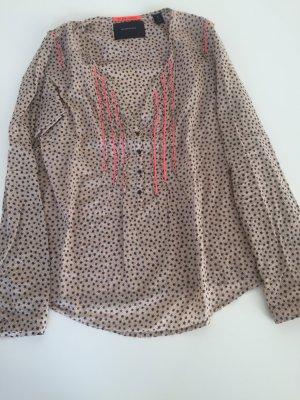 Süße Bluse mit Sternen nude orange Maison scotch Gr. 2 36 Baumwolle