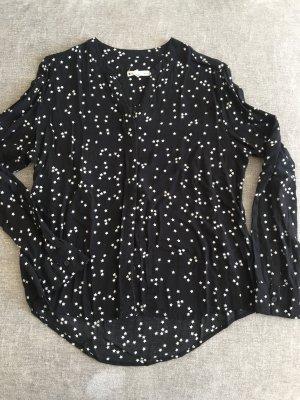 Süsse Bluse mit Sternen Schwarz Weiß Mango XL 38-40