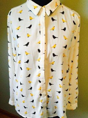 Süße Bluse mit Vogelprint