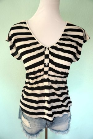 Süße Bluse schwarz- weiß in Gr. XS